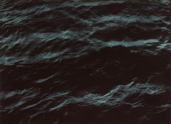 Wasser 310-8-10, oil on silver gelatine print, 73 x 107 cm, 2003