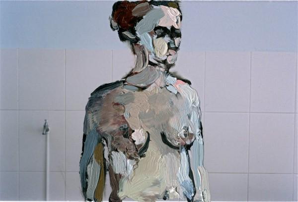 Figur 383-28-1, oil on C-print, 9 x 7 cm, 2014