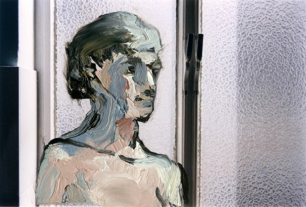 Figur 383-31-1, oil on C-print, 7 x 9 cm, 2012