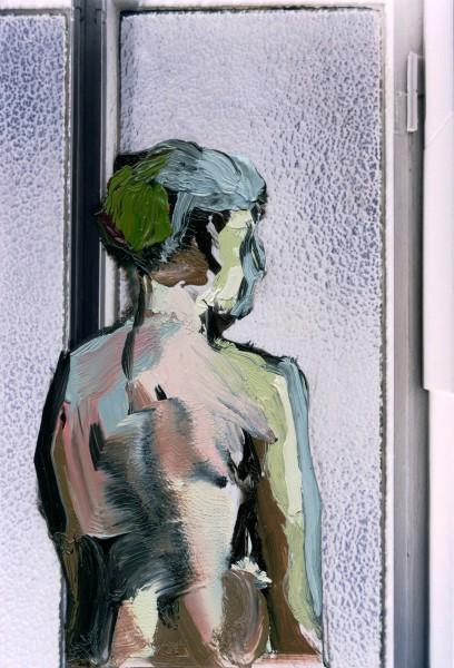 Figur 383-32-1, oil on C-print, 9 x 7 cm, 2012