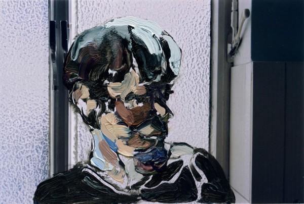 Figur 383-33-1, oil on C-print, 7 x 9 cm, 2014