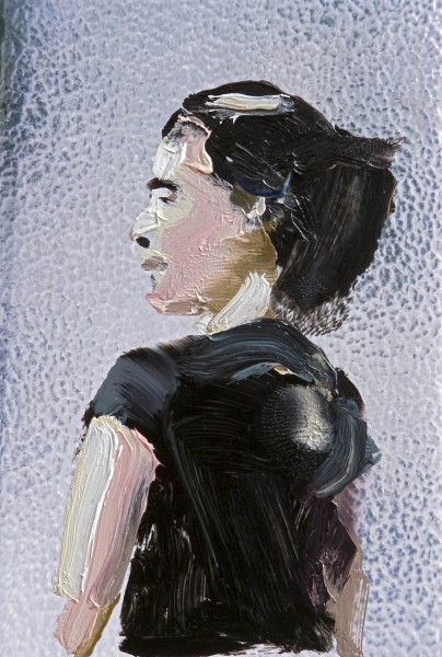Figur 383-34-1, oil on C-print, 9 x 7 cm, 2010
