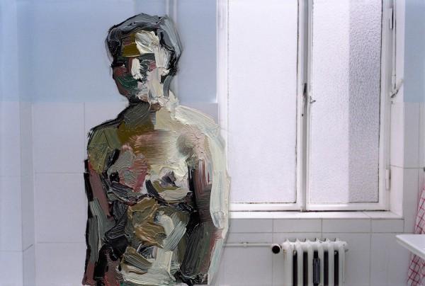 Figur 383-5-1, oil on C-print, 7 x 9 cm, 2014