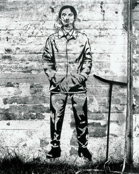 Graffiti 462-4-4, oil on silver gelatine print, 120 x 96 cm, 2001