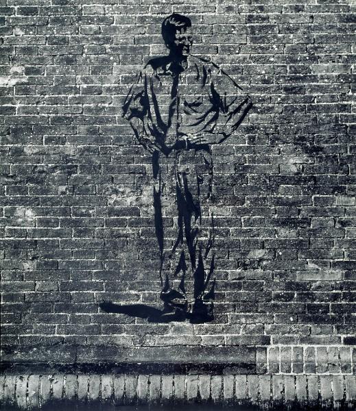 Graffiti 527-6-1, oil on silver gelatine print, 100 x 93 cm, 2001