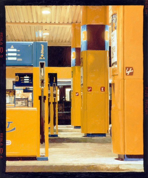 Tankstelle 537-3-1, oil on C-print, 120 x 100 cm, 2005