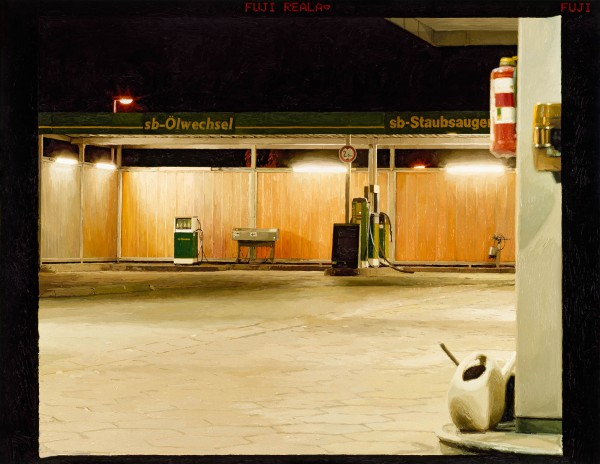 Tankstelle 538-1-3, oil on C-print, 90 x 117 cm, 2005