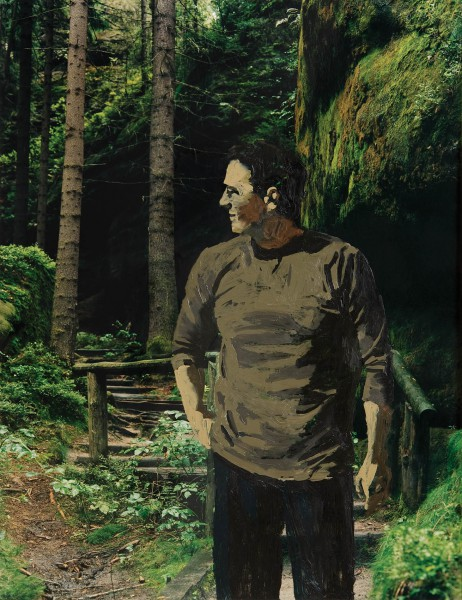 Figur 545-4-3, oil on C-print, 40 x 30 cm, 2004