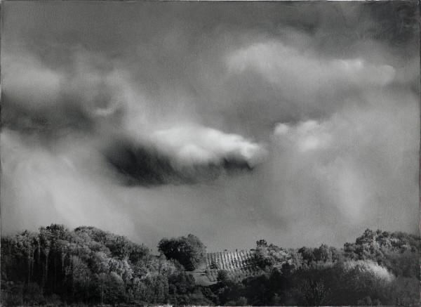 Wolken 577-2-2, oil on silver gelatine print, 30 x 40 cm, 2002