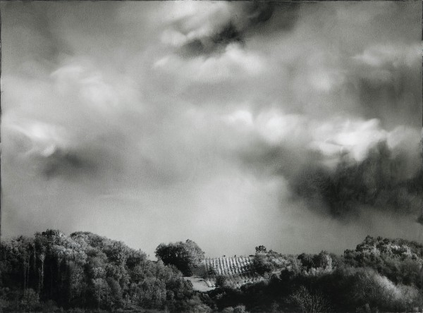 Wolken 577-2-3, oil on silver gelatine print, 30 x 40 cm, 2002