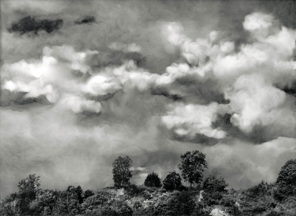 Wolken 595-4-1, oil on silver gelatine print, 59 x 80 cm, 2002