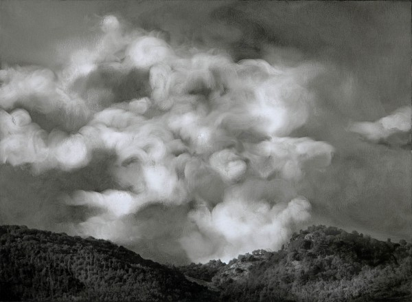 Wolken 595-6-2, oil on silver gelatine print, 30 x 40 cm, 2003