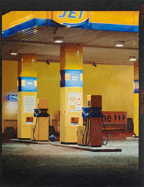 Tankstelle 677-2-2, oil on C-print, 120 x 92 cm, 2013