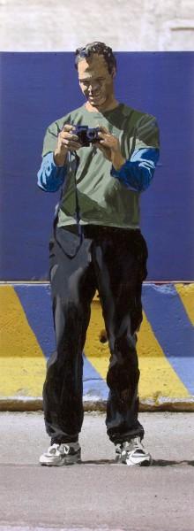 Figur 709-7-3, oil on Cibachrome print, 120 x 44 cm, 2006