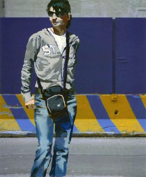 Figur 709-7-4, oil on Cibachrome print, 17 x 14 cm, 2006