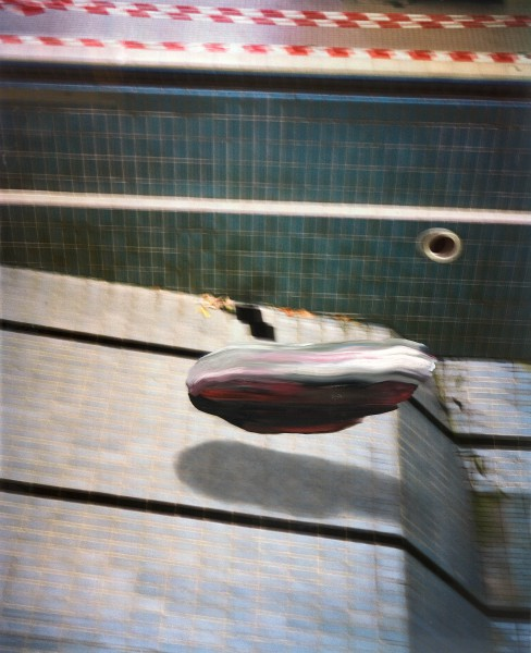 Objekt 717-9-5, oil on Cibachrome Print, 140 x 113 cm, 2011
