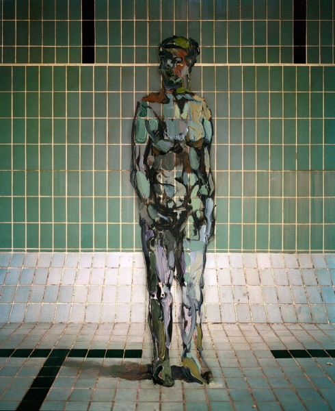 Figur 718-3-3, oil on Cibachrome Print, 30 x 24 cm, 2012
