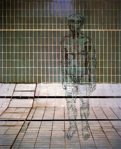 Figur 718-6-4, oil on Cibachrome print, 140 x 113 cm, 2011