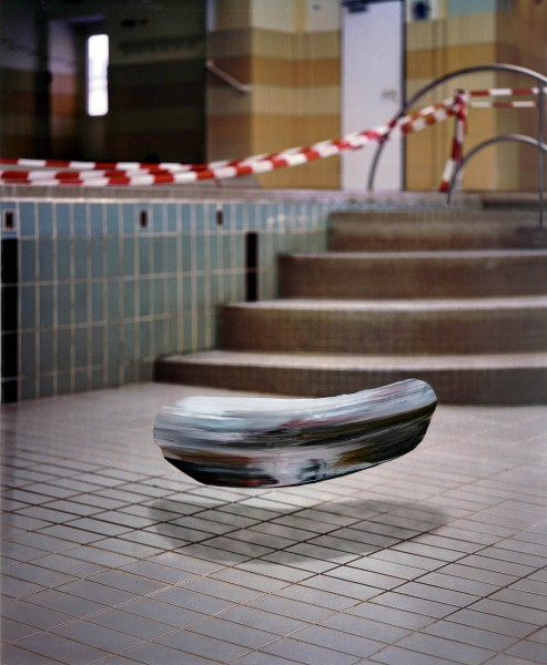 Objekt 718-8-1, oil on Cibachrome Print, 140 x 114 cm, 2011