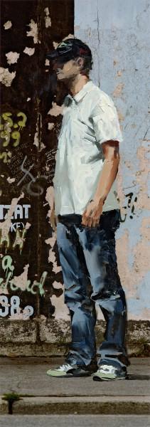 Figur 733-4-2, oil on Cibachrome print, 40 x 14 cm, 2007