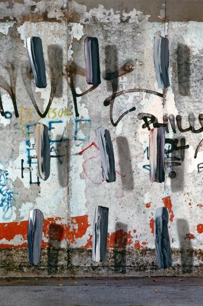 Objekte 732-6-1, oil on Cibachrome print, 160 x 107 cm, 2007