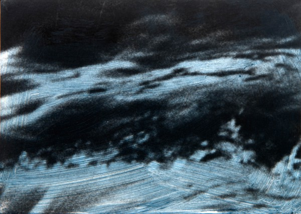 Wasser 76-34-2, oil on silver gelatine print, 9 x 14 cm, 1997