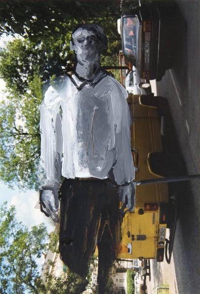 Figur 0-93-16, oil on c-print, 13 x 9 cm, 1993