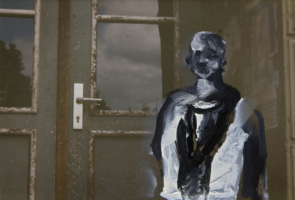 Figur 0-93-18, oil on c-print, 9 x 13 cm, 1993
