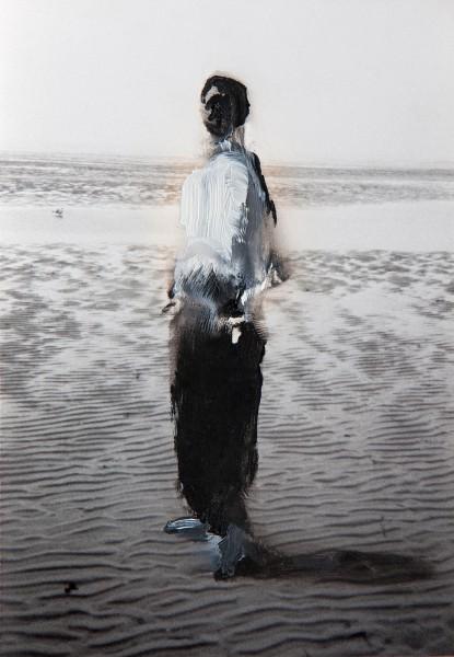 Figur 1-5-2, oil on silver gelatine print, 15 x 10 cm, 1995