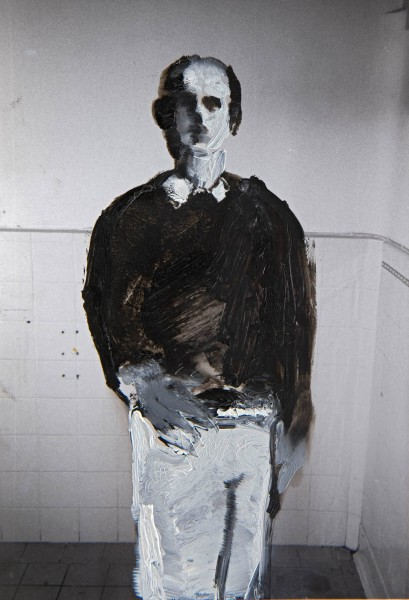 Figur 10-26-1, oil on silver gelatine print, 13 x 9 cm, 1998