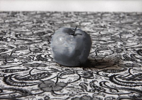 Apfel 100-4-1, oil on silver gelatine print, 13 x 18 cm, 1997