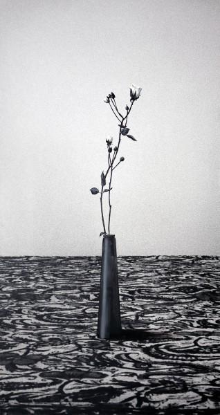Blume 132-6-5, oil on silver gelatine print, 132 x 65 cm, 1995