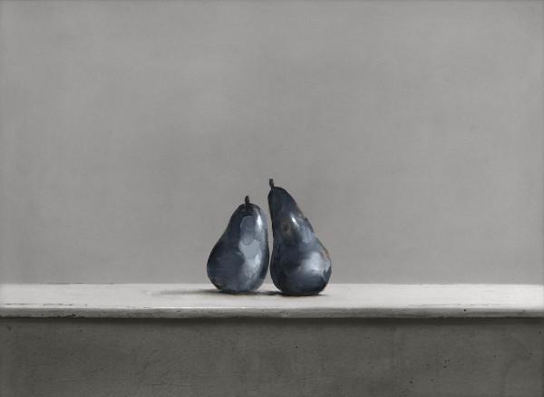 Birnen 273-6-26, oil on silver gelatine print, 30 x 40 cm, 2000