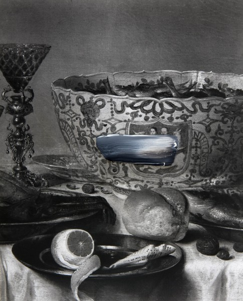 Objekt 307-1-2, oil on silver gelatine print, 30 x 40 cm, 1998