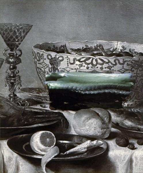 Objekt 307-1, oil on silver gelatine print, 74 61 cm, 1998