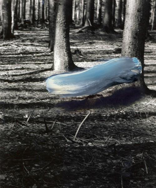 Objekt 340-8-6, oil on silver gelatine print, 24 x 18 cm, 1999