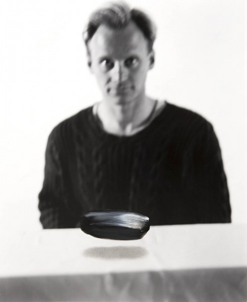 Objekt 346-6-2, oil on silver gelatine print, 40 x 30 cm, 1999