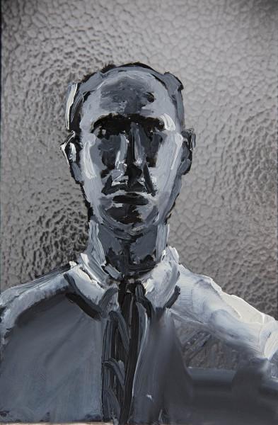 Figur 381-9-1, oil on silver gelatine print, 18 x 13 cm, 1999