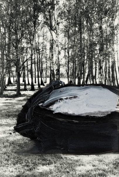 Objekt 4-16, oil on silver gelatine print, 13 x 9 cm, 1995