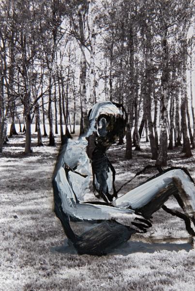Figur 4-16-2, oil on silver gelatine print, 15 x 10 cm, 1994