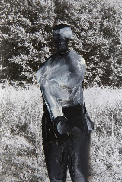 Figur 4-26-1, oil on silver gelatine print, 9 x 13 cm, 1997