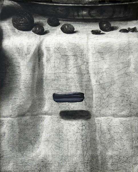Objekt 501-1-1, oil on silver gelatine print, 68 x 96 cm, 2002