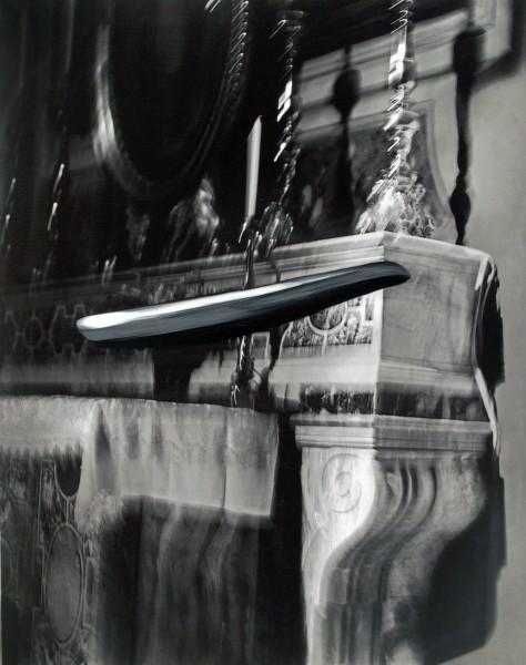 Objekt 593-7-4, oil on silver gelatine print, 110 x 88 cm, 2004