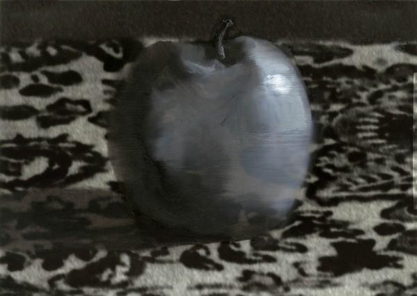 Apfel 94-33-3, oil on silver gelatine print, 11 x 15 cm, 1996